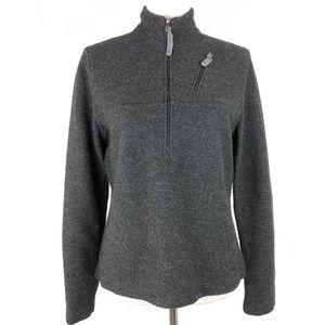 Ibex Wool 1/2 Zip Top Sweater Jacket Gray Medium for sale